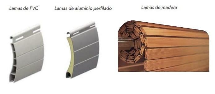 materiales persianas